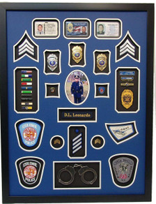 "24"" x 32"" NYPD Police Shadow Box"