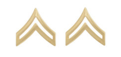 Army Chevron: Corporal - 22k gold plated