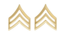 Army Chevron: Sergeant - 22k gold plated