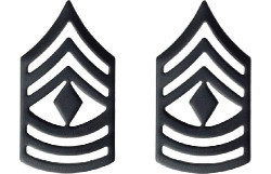 Army Chevron: First Sergeant - black metal