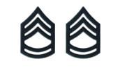 Army Chevron: Sergeant First Class - black metal