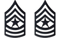 Army Chevron: Sergeant Major - black metal