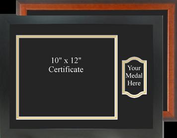 """13"""" x 18"""" Landscape Certificate Frame w/ Medal"""