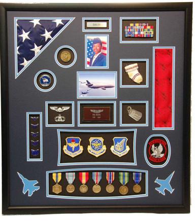 U S Air Force Flag Shadow Box Display Frame Military