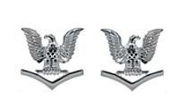 Navy Metal Coat Epaulet Device: E4 Petty Officer