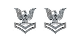 Navy Service Collar Device: E5- pair