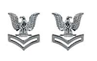 Navy Metal Coat Epaulet Device: E5 Petty Officer