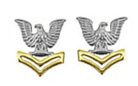Navy Metal Coat Epaulet Device: E5 Petty Officer: Good Conduct