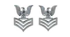 Navy Metal Coat Epaulet Device: E6 Petty Officer