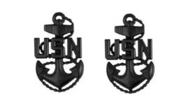 Navy Collar Device: E7 Seabee – large- pair