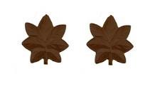 Navy Officer Coat Device: Lieutenant Commander - brown metal- pair