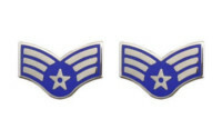 Air Force Enameled Chevron: Senior Airman- pair