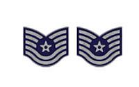 Air Force Enameled Chevron: Technical Sergeant- pair