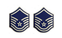 Air Force Enameled Chevron: Master Sergeant- pair