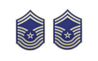Air Force Enameled Chevron: Senior Master Sergeant- pair