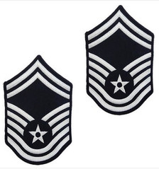 Air Force Embroidered Chevron: Senior Master Sergeant - color