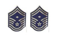 Air Force Enameled Chevron: Senior Master Sergeant: First Sergeant- pair