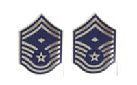Air Force Enameled Chevron: Senior Master Sergeant: First Sergeant- pair