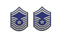 Air Force Enameled Chevron: Chief Master Sergeant- pair