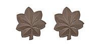 Air Force Officer Rank- Major - subdued metal- pair