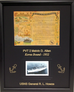 Korea Deployment Certificate Frame Display