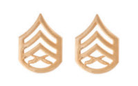 Marine Corps Chevron: Staff Sergeant - satin gold- pair