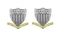 Coast Guard Metal Collar Device: E4 Petty Officer- pair