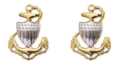 Coast Guard Metal Collar Device: E7 Chief Petty Officer- pair