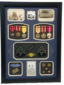 World War II Tech Sergeant Shadow Box Display