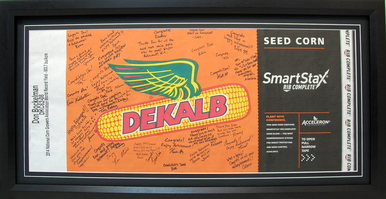 Autographed Feed Sack Shadow Box Display