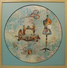 Beautiful Sewing Puzzle Frame