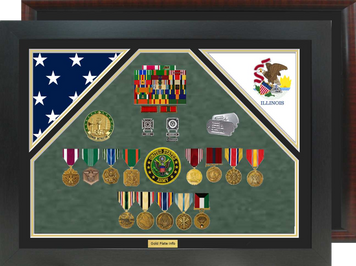 "20"" x 28"" Double Flag Shadow Box"