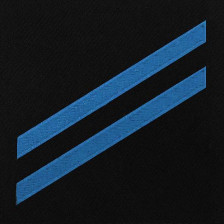 Navy E2 Rating Badge: Construction Apprentice – blue