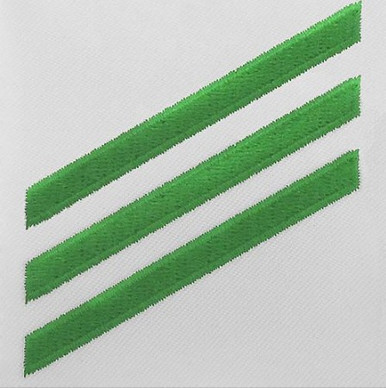 Navy E3 Rating Badge: Airman - green chevrons on white CNT