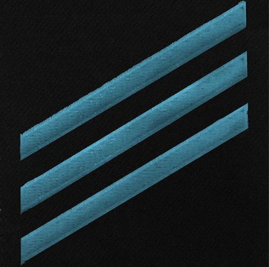 Navy E3 Rating Badge: Constructionman - blue chevrons on blue serge