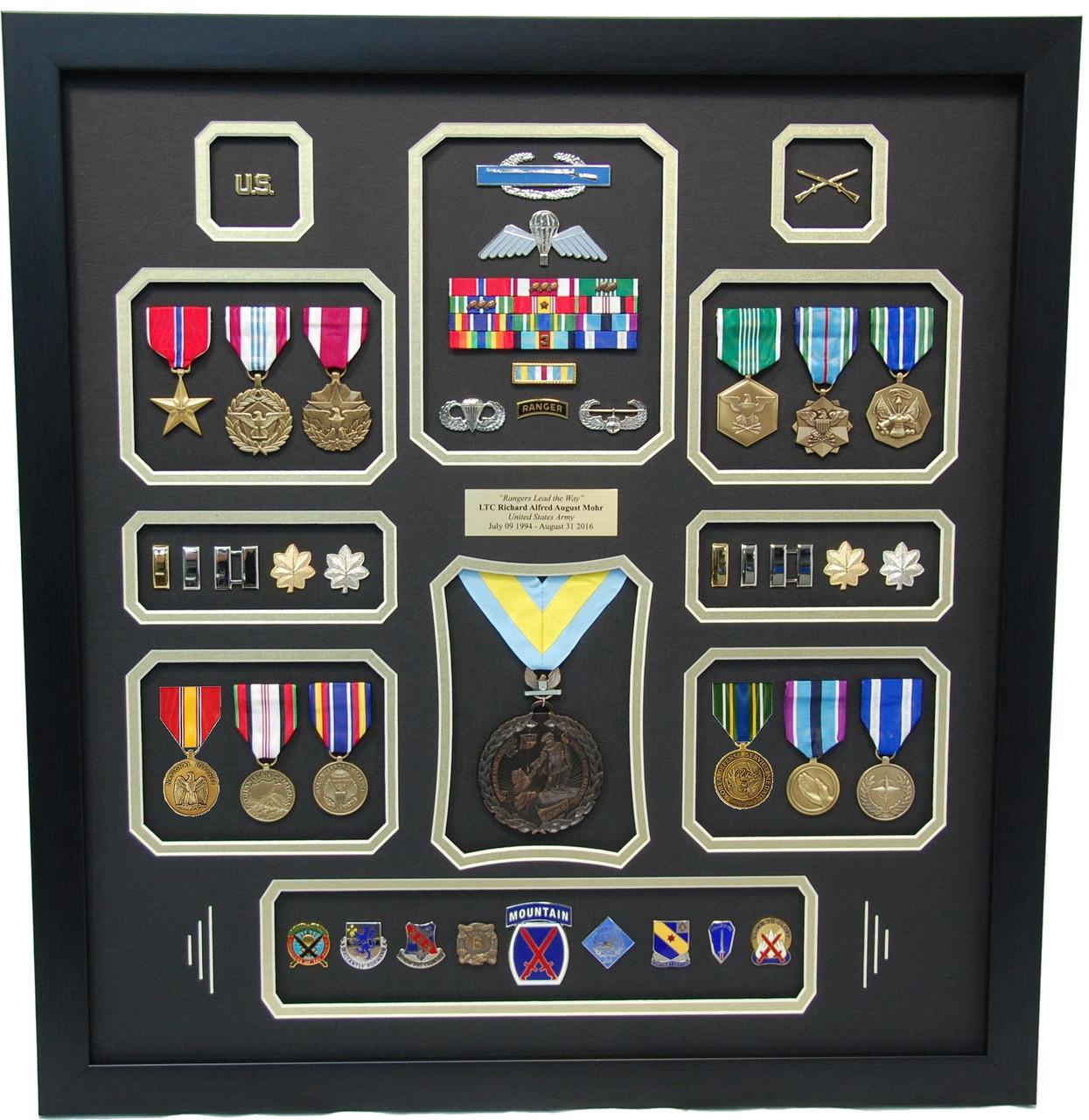 U S Army Ranger Shadow Box Display Frame Military