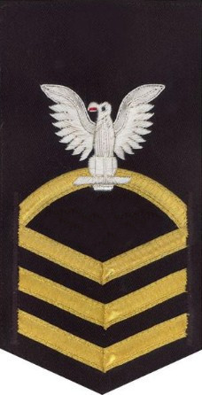 Navy E7 MALE Rating Badge – vanchief on blue