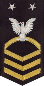 Navy E9 Rating Badge - vanchief on blue