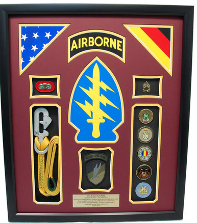 Special Forces Shadow Box Display W Lanyard Military