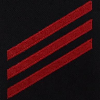 Coast Guard E3 Rating Badge:  Fireman - blue serge