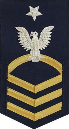 Coast Guard E8 Rating Badge