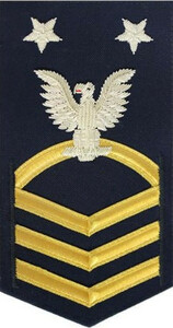 Coast Guard E9 Rating Badge: black