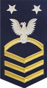 Coast Guard E9 Rating Badge: blue