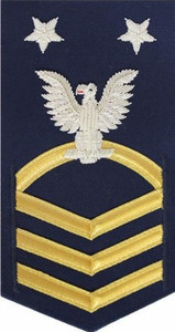 Coast Guard E9 Rating Badge: blue