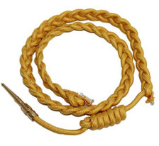 Army Service Aiguillette- Gold Nylon
