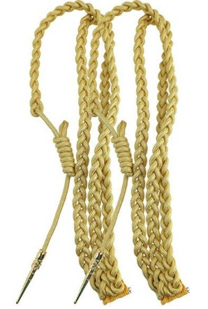 Army Dress Aiguillette- Synthetic Gold- pair