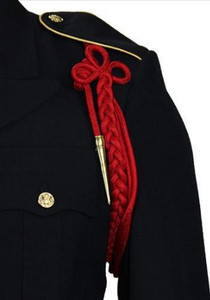 Army Shoulder Cord: 2720 Scarlet Red with Brass Tip
