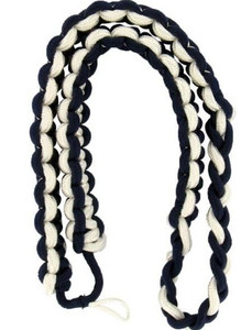 Army Shoulder Cord: 2723 Interwoven Navy Blue and White