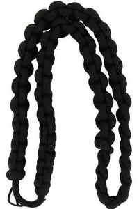 Army Shoulder Cord: 2723 Interwoven One Color Black – thick