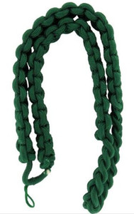 Army Shoulder Cord: 2723 Interwoven One Color Kelly Green